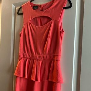 Bebe mandarin flattering dress